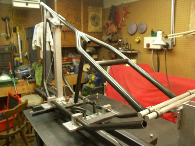 custom fabricated chopper frame